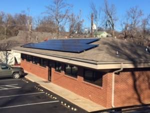 Solar Powered Roof on Ross Dental for Renewable Energy